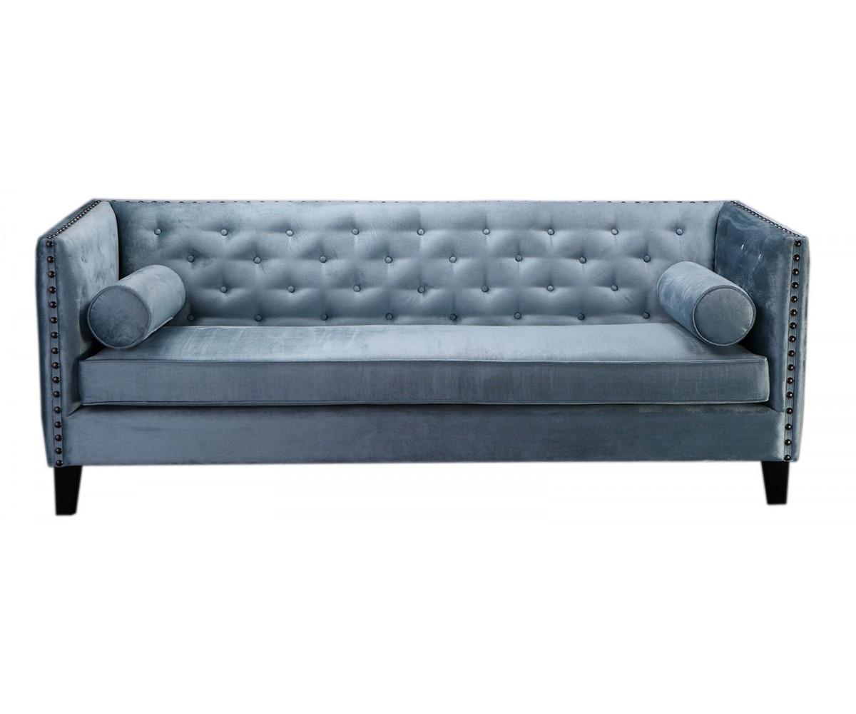 chesterfield sofa 3er sitzer sofa blau grau klassisch. Black Bedroom Furniture Sets. Home Design Ideas