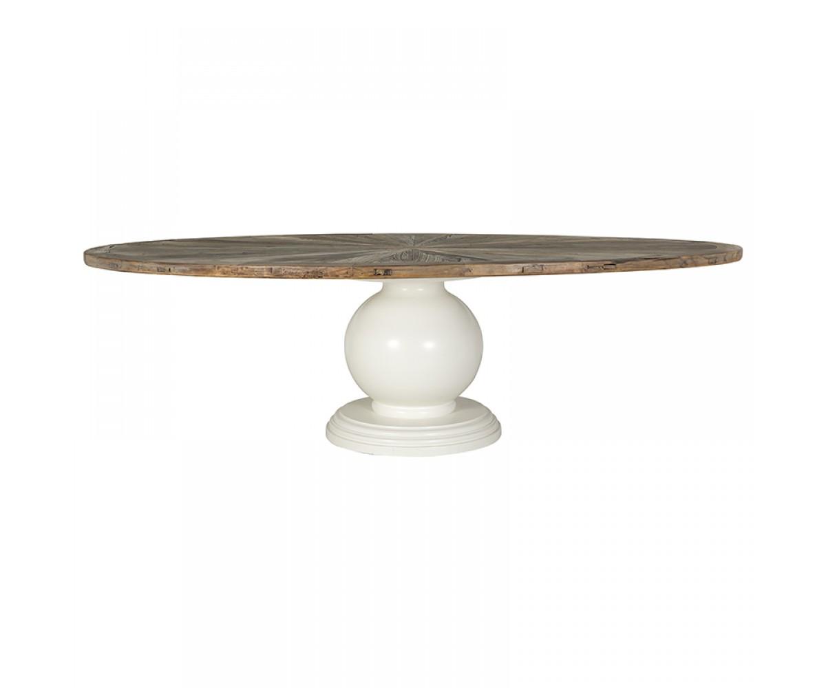 ovaler esstisch massivholz tischplatte tisch oval im. Black Bedroom Furniture Sets. Home Design Ideas