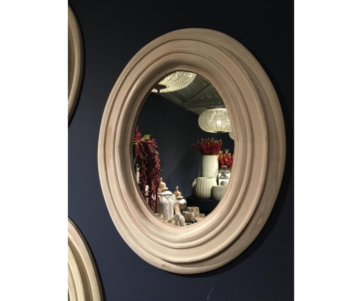 spiegel rund holz wandspiegel rund massivholz durchmesser 120 cm. Black Bedroom Furniture Sets. Home Design Ideas
