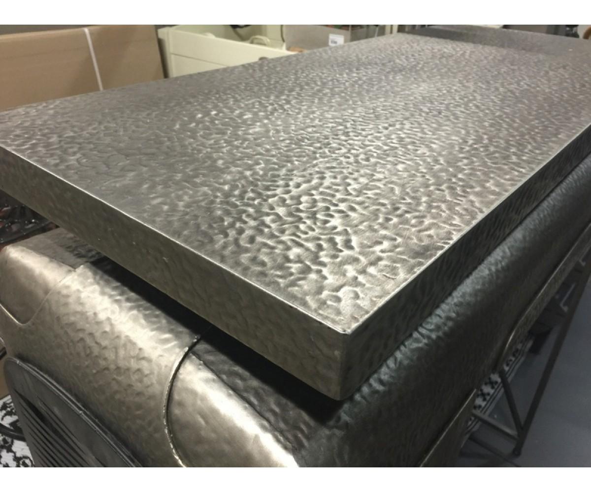 Traktortisch grau metall bartisch grau bartisch im for Sofa industriedesign