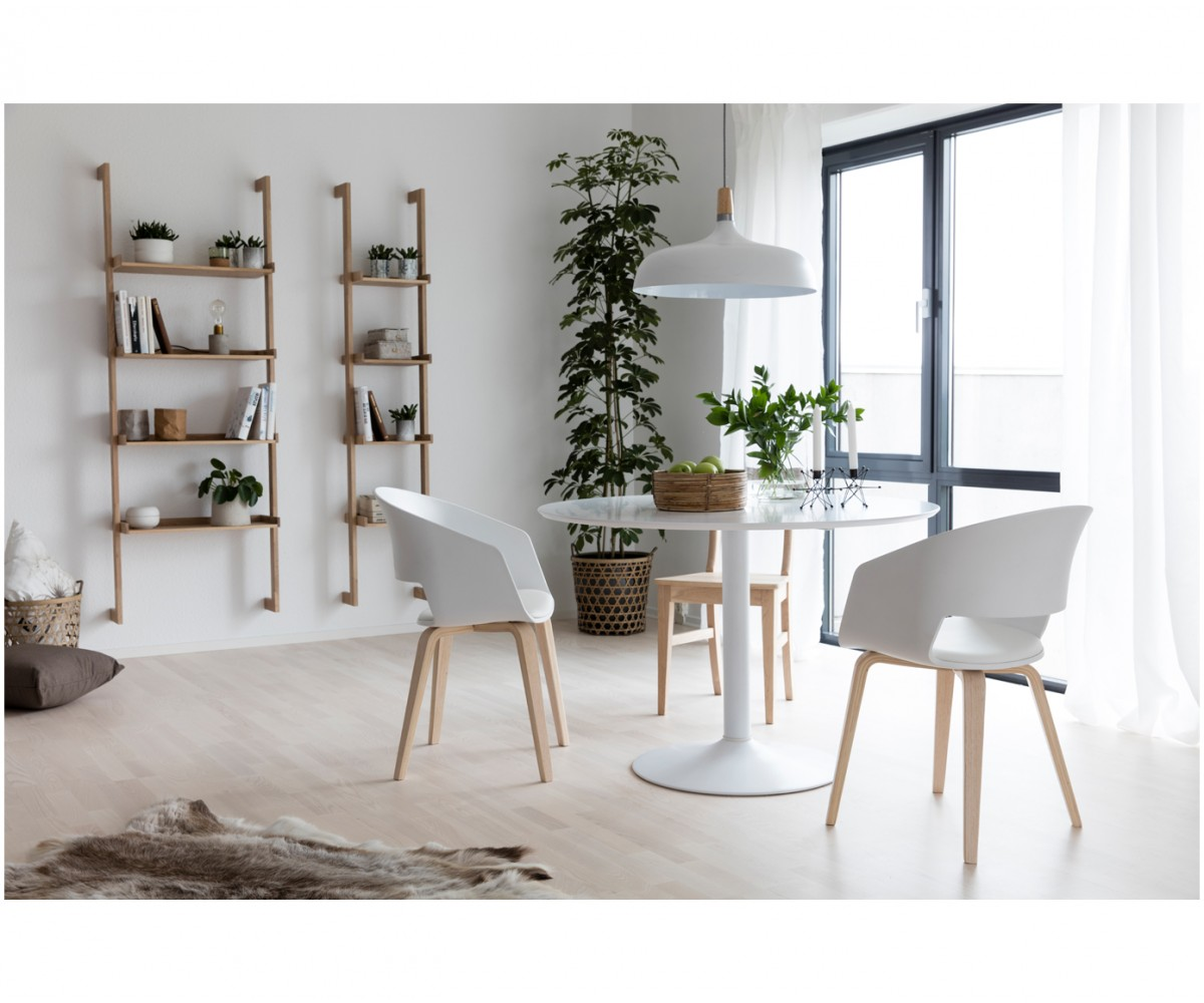 Esstisch rund weiß  Tisch weiß, Esstisch weiß rund, Tisch rund weiß, Durchmesser 110 cm