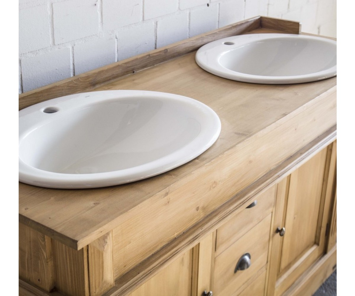 waschtisch wei drei schubladen doppelwaschtisch im. Black Bedroom Furniture Sets. Home Design Ideas