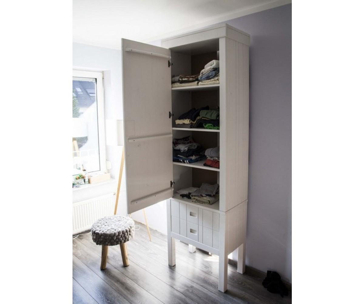 Kinderzimmerschrank weiß, Schrank weiß Massivholz, Kleiderschrank ...