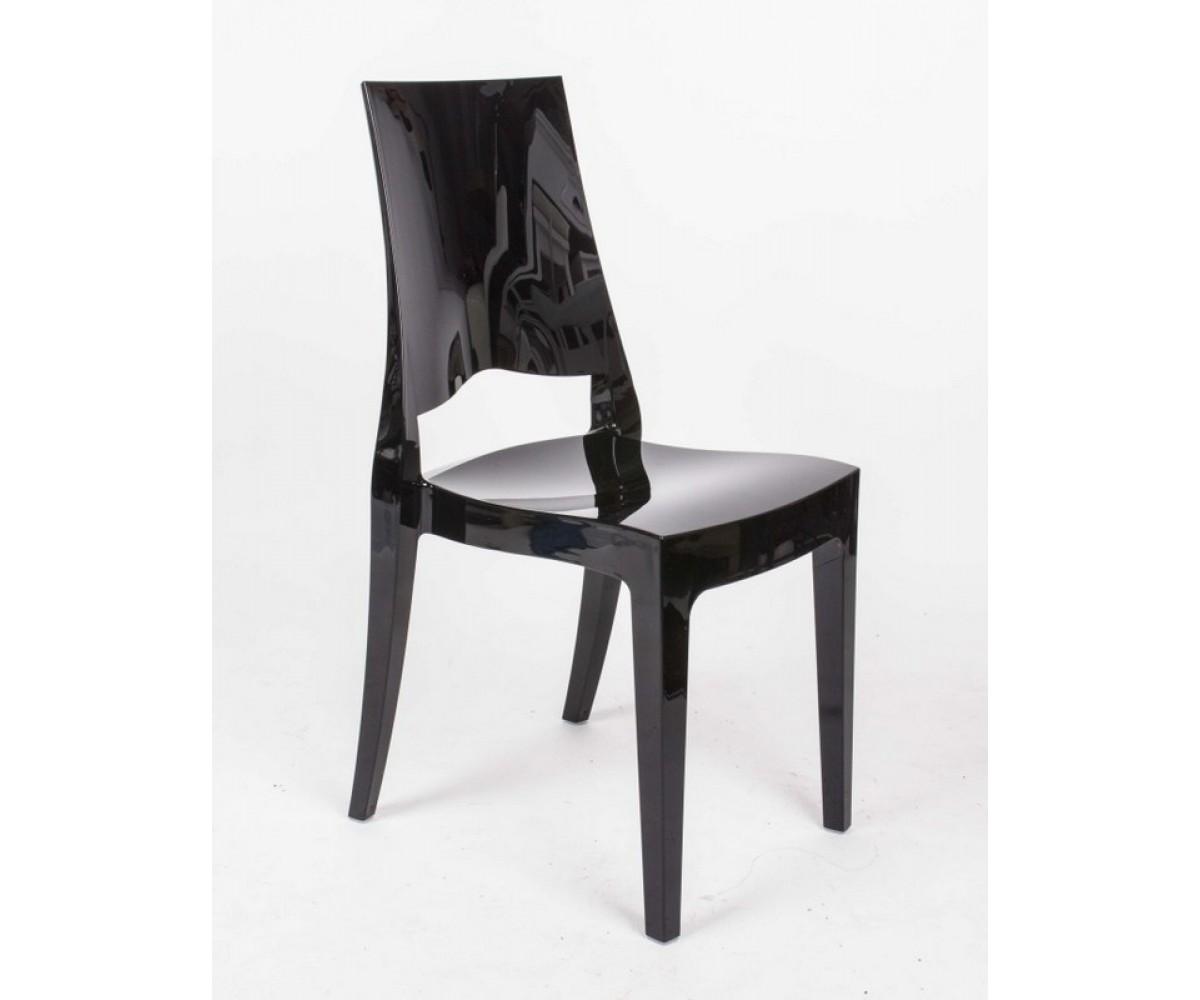 stuhl schwarz mit sitzkissen outdoor stuhl aus kunststoff schwarz. Black Bedroom Furniture Sets. Home Design Ideas