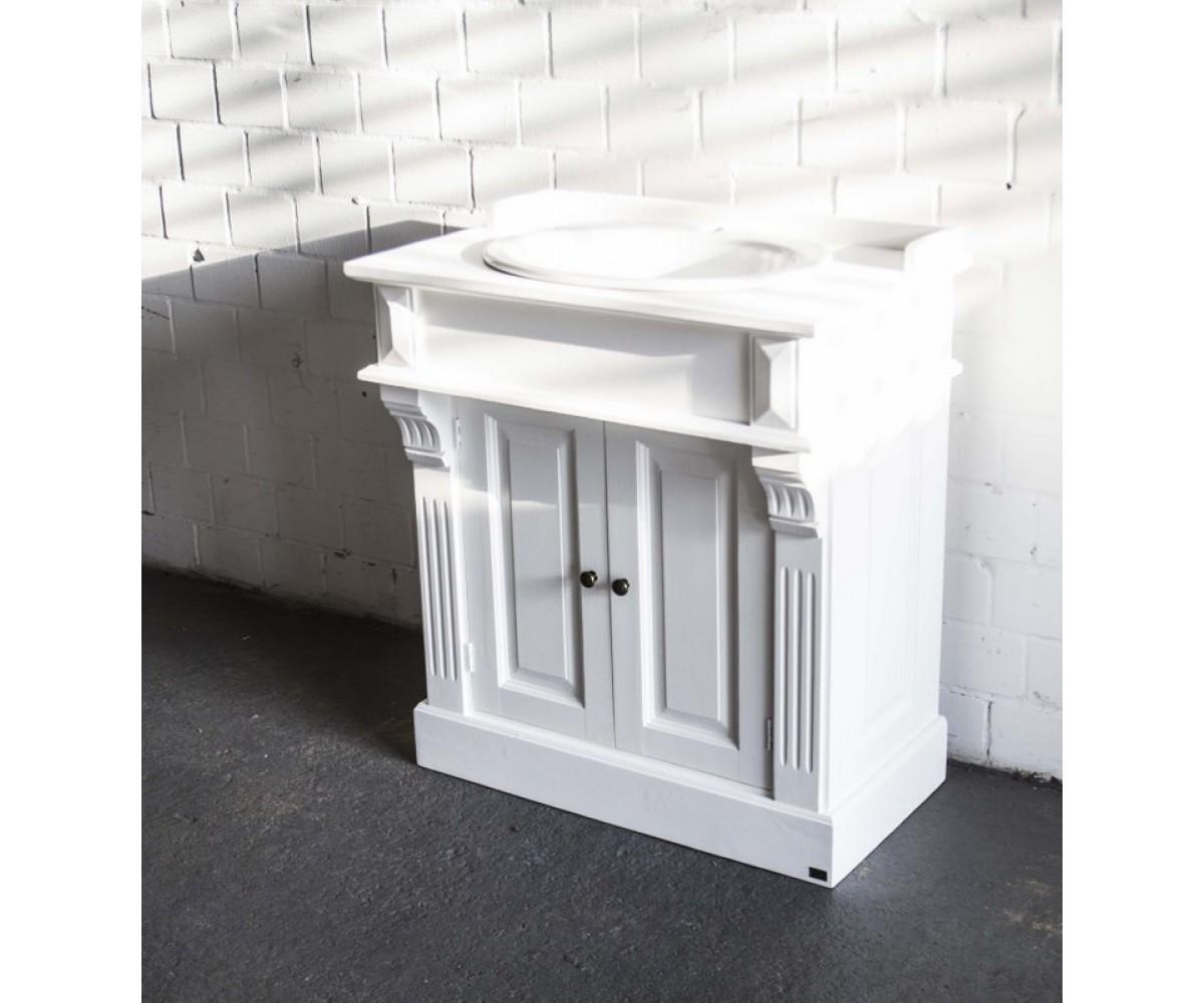 waschtisch wei im landhausstil badm bel wei klassisch. Black Bedroom Furniture Sets. Home Design Ideas