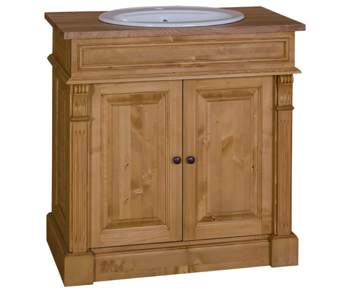 waschtisch landhaus waschtisch schrank massivholz. Black Bedroom Furniture Sets. Home Design Ideas
