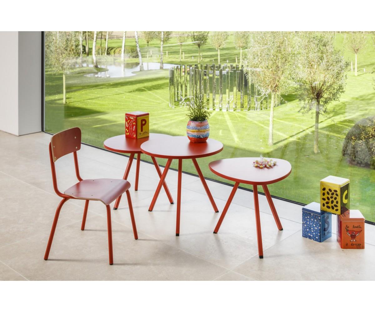 Schultisch maße  Esstisch blau rund, Tisch rund blau , Schultisch in drei Farben ...