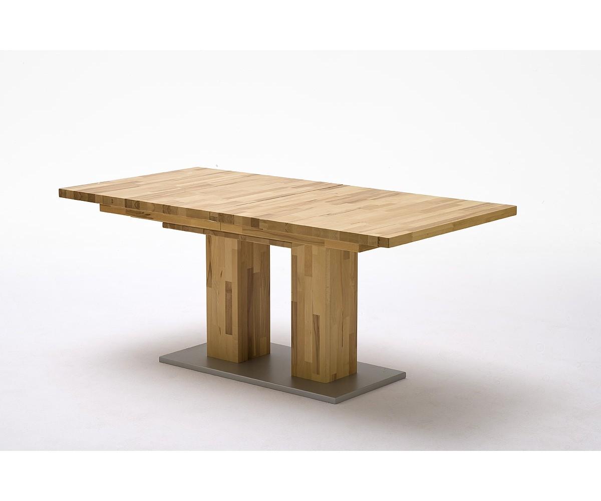 ausziehbarer esstisch massivholz tisch ausziehbar holz ma e 90 x 160 260 cm. Black Bedroom Furniture Sets. Home Design Ideas