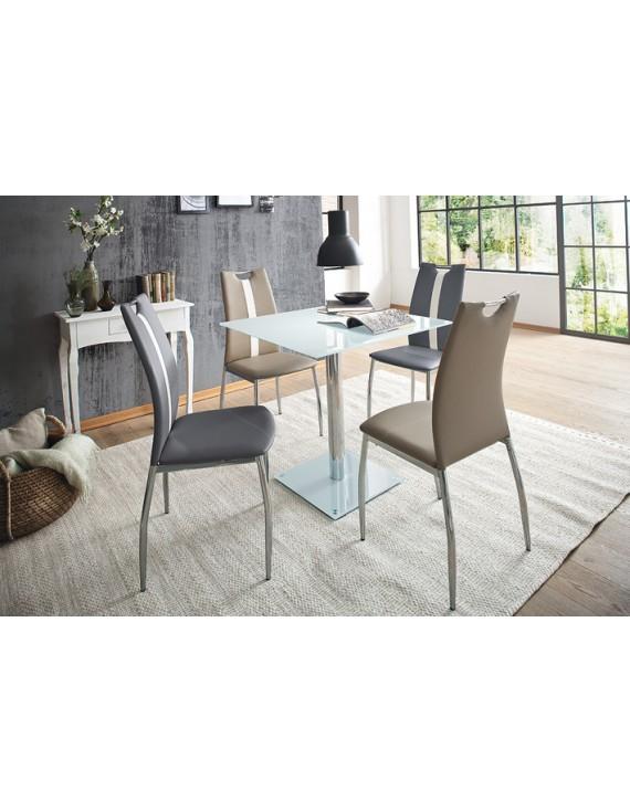 tisch glasplatte glastisch wei bistrotisch glasplatte wei ma e 80 x 80 cm. Black Bedroom Furniture Sets. Home Design Ideas