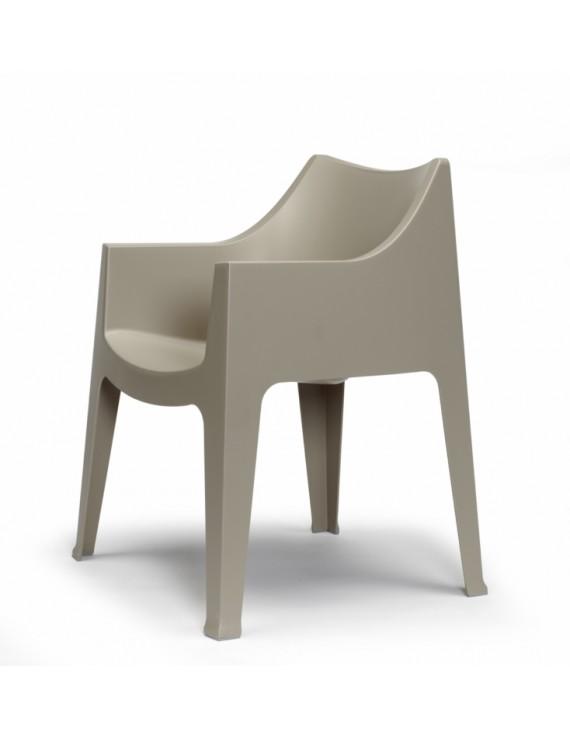 Gartensessel kunststoff  taupe, Gartenstuhl taupe Kunststoff, Stuhl taupe stapelbar