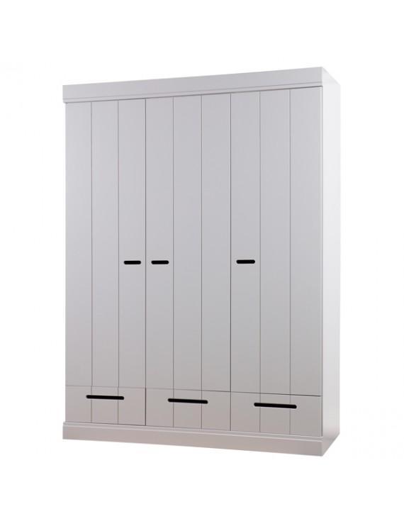 kleiderschrank grau schrank grau aus massivholz breite. Black Bedroom Furniture Sets. Home Design Ideas
