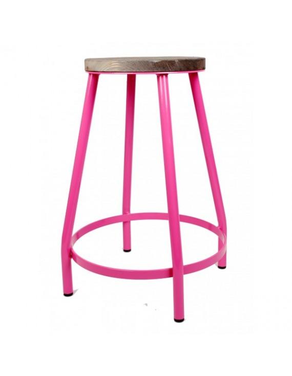 barhocker pink barhocker metall h he 53 cm