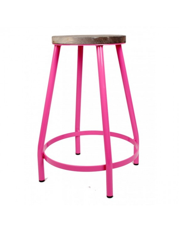 Barhocker pink barhocker metall h he 53 cm for Barhocker pink