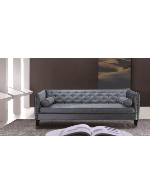 chesterfield sofa 3er sitzer sofa blau grau klassisch. Black Bedroom Furniture Sets. Home Design Ideas