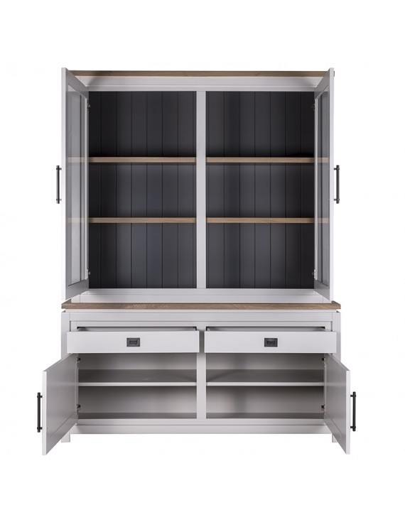 vitrine wei geschirrschrank wei buffetschrank wei. Black Bedroom Furniture Sets. Home Design Ideas