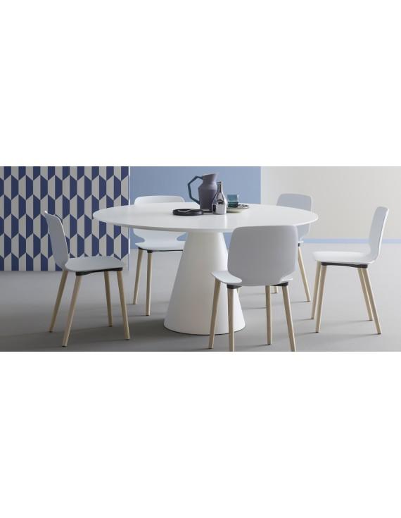 tisch wei esstisch rund modern wei tisch rund durchmesser 150 cm. Black Bedroom Furniture Sets. Home Design Ideas