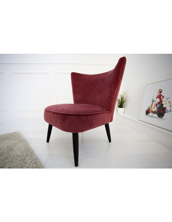 rot, Sessel Retro Style rot