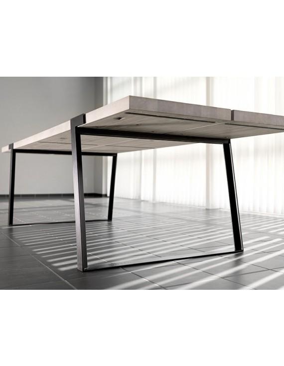 esstisch wei ge lt eiche massiv tisch eiche massiv wei tisch metall tischbeine schwarz ma e. Black Bedroom Furniture Sets. Home Design Ideas