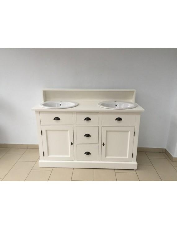 doppelwaschtisch wei landhaus waschtisch schrank massivholz wei. Black Bedroom Furniture Sets. Home Design Ideas