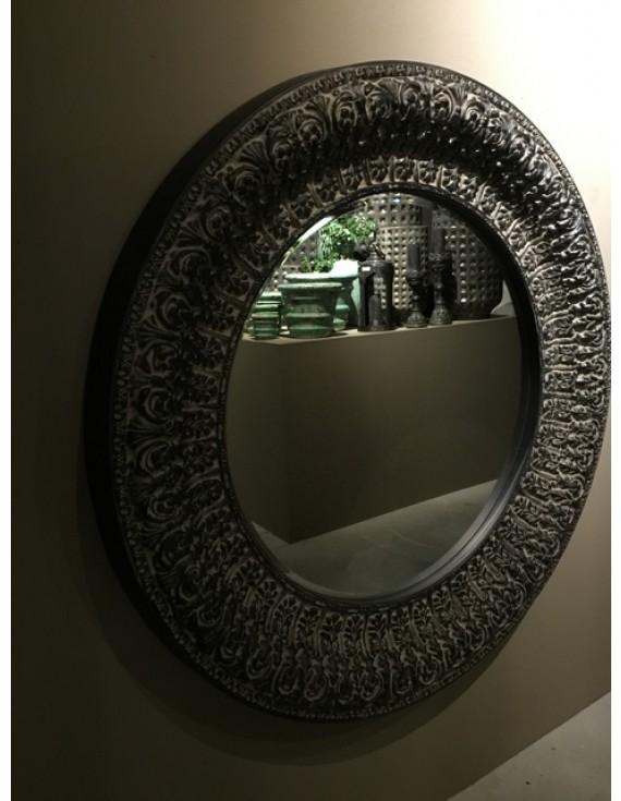spiegel rund ornament wandspiegel rund kunststoff durchmesser 130 cm. Black Bedroom Furniture Sets. Home Design Ideas