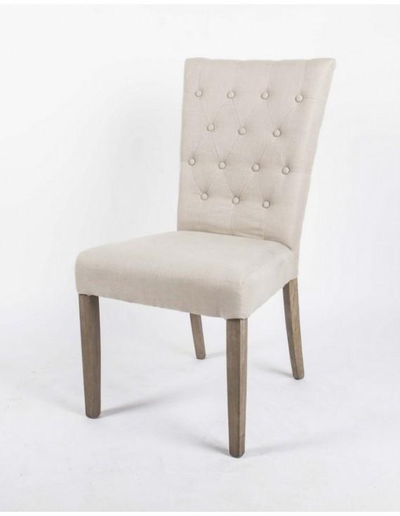 gepolsterter stuhl mit armlehne esszimmerstuhl gepolstert farbe leinen. Black Bedroom Furniture Sets. Home Design Ideas