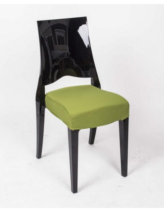 Stuhl schwarz mit sitzkissen outdoor stuhl aus kunststoff - Outdoor stuhle kunststoff ...