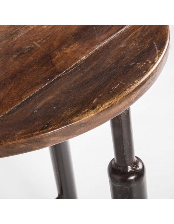 barhocker metall holz im industriedesign hocker metall sitzh he 65 cm barst hle barhocker. Black Bedroom Furniture Sets. Home Design Ideas