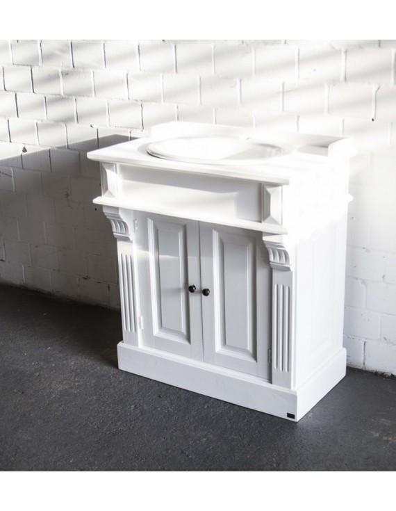 waschtisch wei im landhausstil badm bel wei klassisch waschtisch massivholz. Black Bedroom Furniture Sets. Home Design Ideas