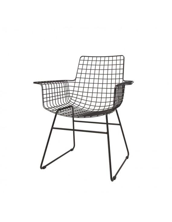 Stuhl metall schwarz esszimmerstuhl schwarz stuhl mit for Stuhl mit armlehne schwarz