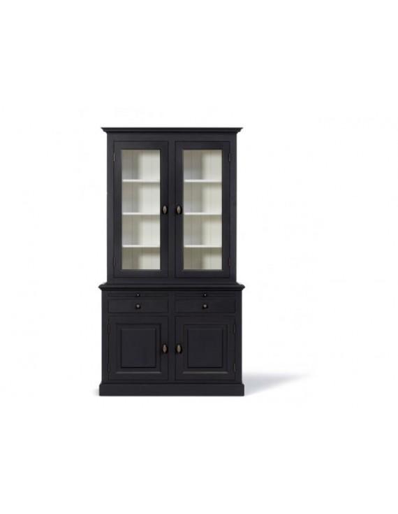 Vitrine schwarz geschirrschrank schwarz wei for Wohnzimmerschrank schwarz