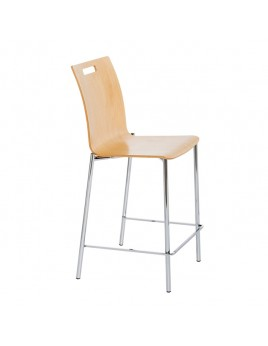 Barstuhl PRO stapelbar, Barstuhl verchromt oder satiniert, Sitzhöhe 65 cm