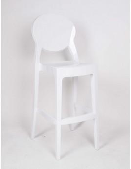 Design Barstuhl, Barhocker aus Polycarbonat, in zwei Farben weiß und schwarz