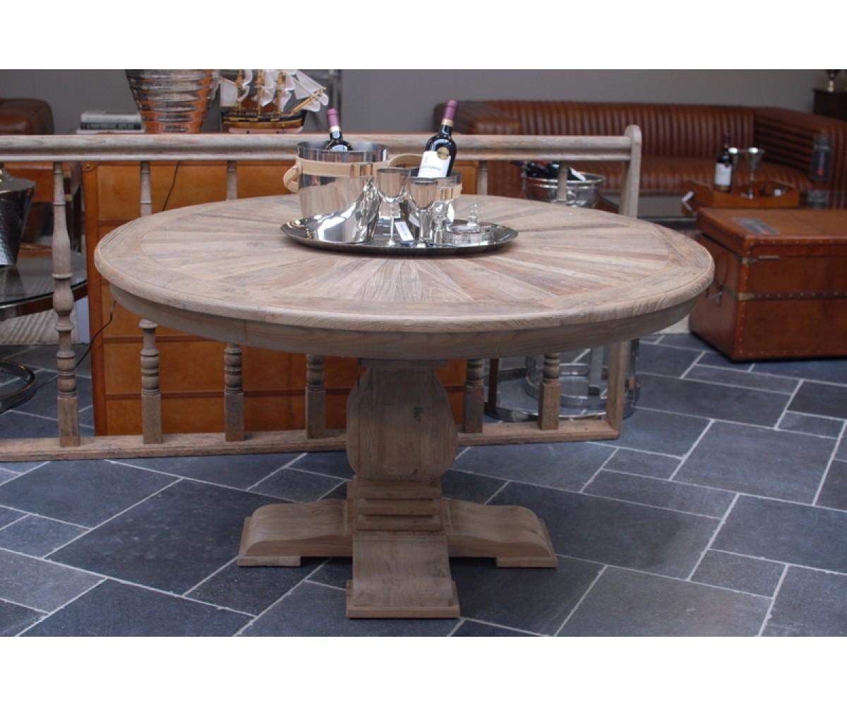 Tisch rund Massivholz, runder Esstisch Massivholz, Durchmesser 140 cm