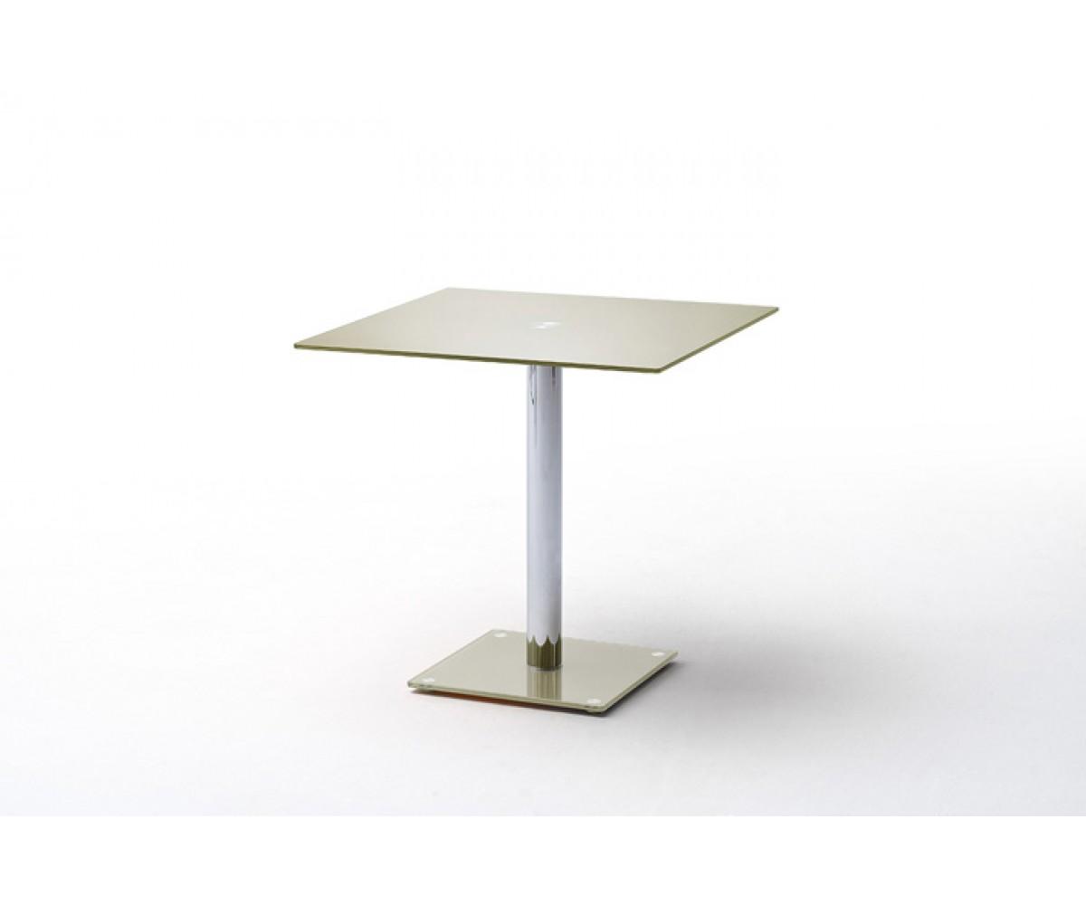 Tisch Glasplatte taupe, Glastisch taupe, Bistrotisch Glasplatte