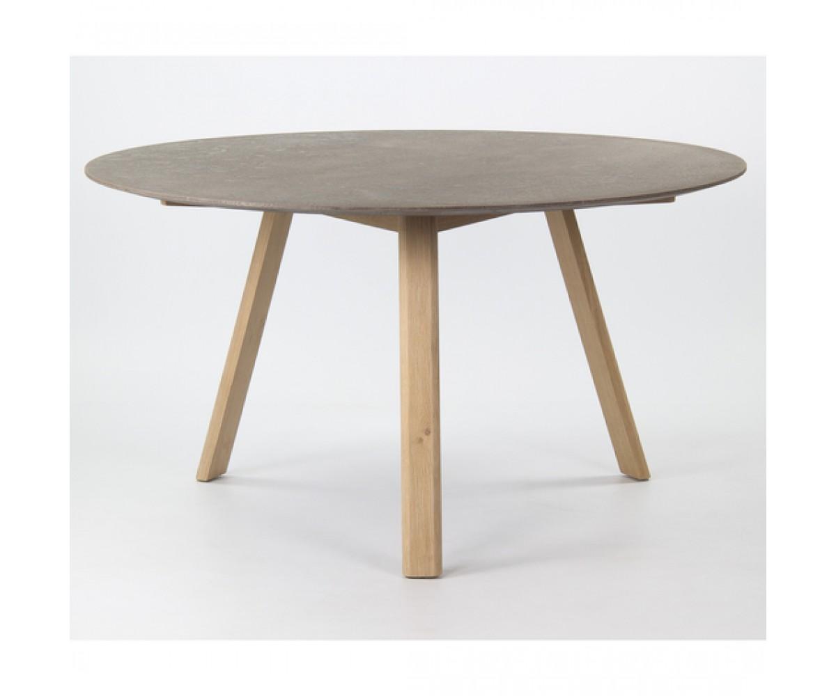 tisch rund beton-optik, esstisch rund grau, durchmesser 140 cm