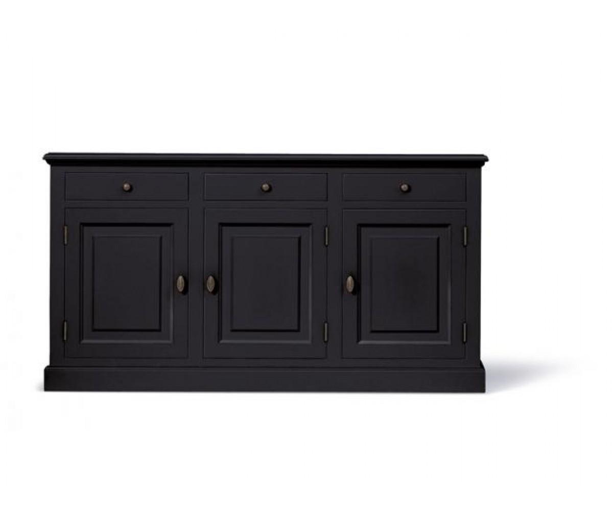 sideboard schwarz schrank schwarz landhaus anrichte schwarz landhausstil breite 177 cm. Black Bedroom Furniture Sets. Home Design Ideas