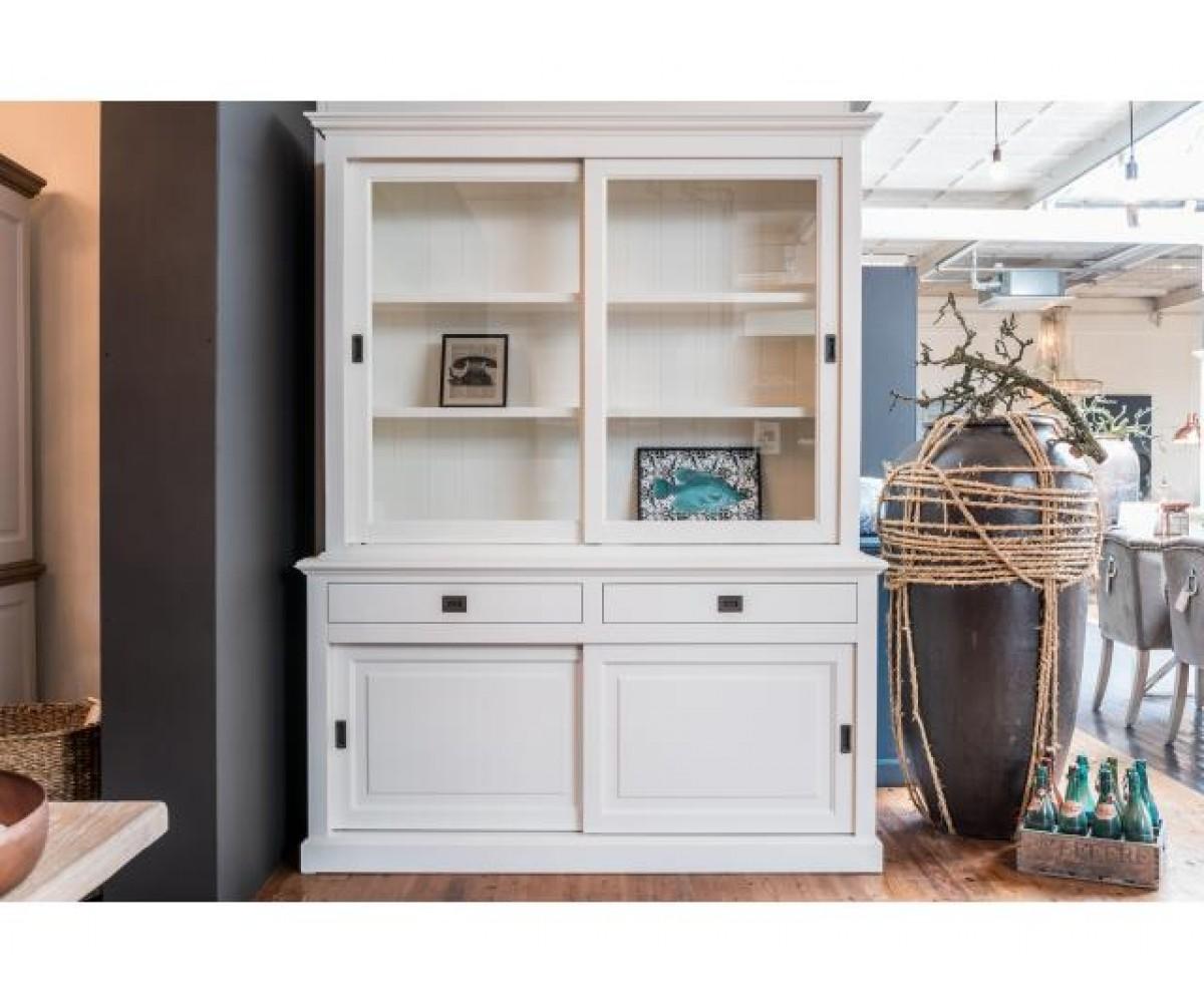 vitrine wei geschirrschrank wei wohnzimmerschrank im landhausstil breite 177 cm. Black Bedroom Furniture Sets. Home Design Ideas