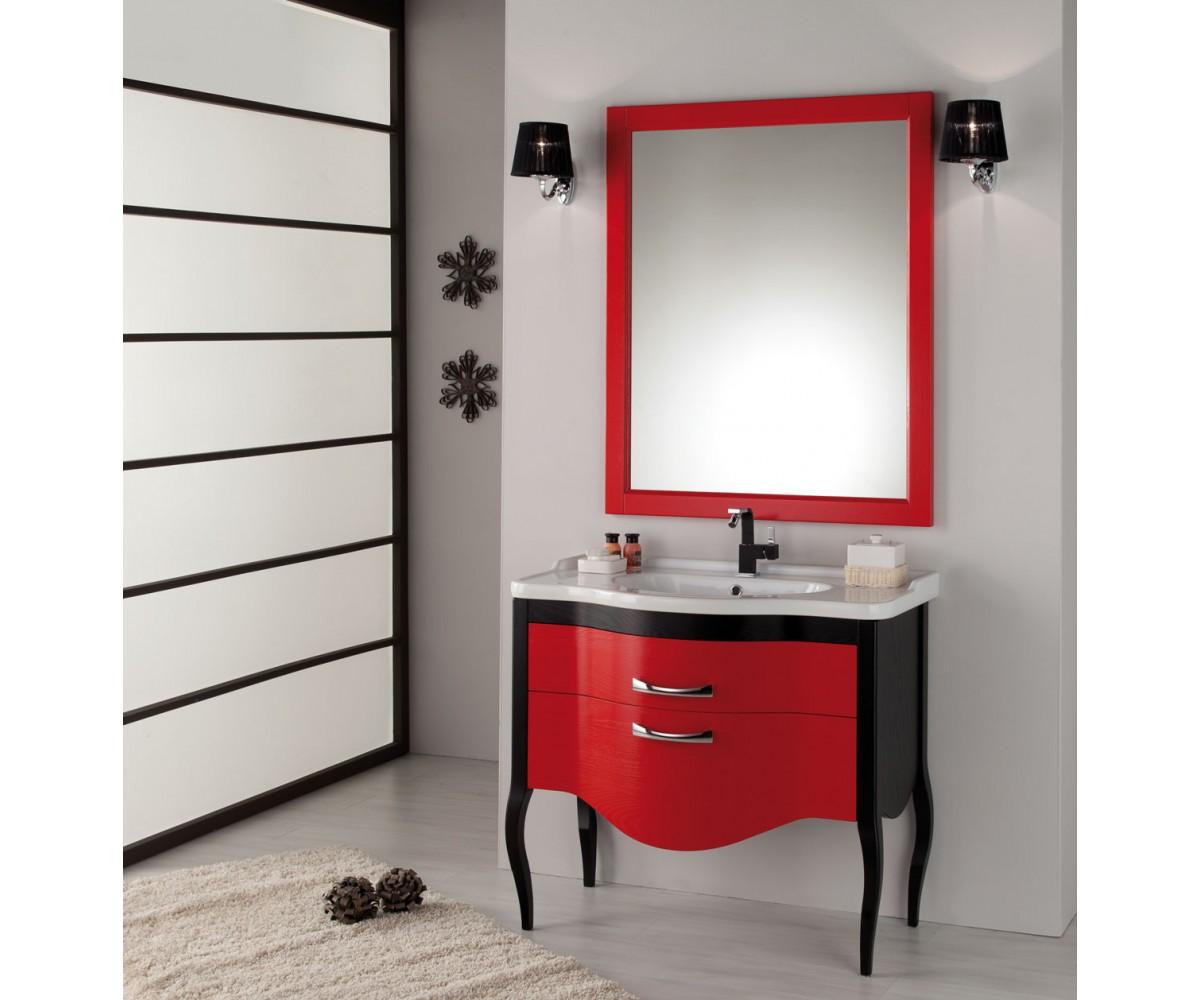 Waschtisch mit spiegel im landhausstil in verschidenen farben breite 110 cm for Sprinter breite mit spiegel