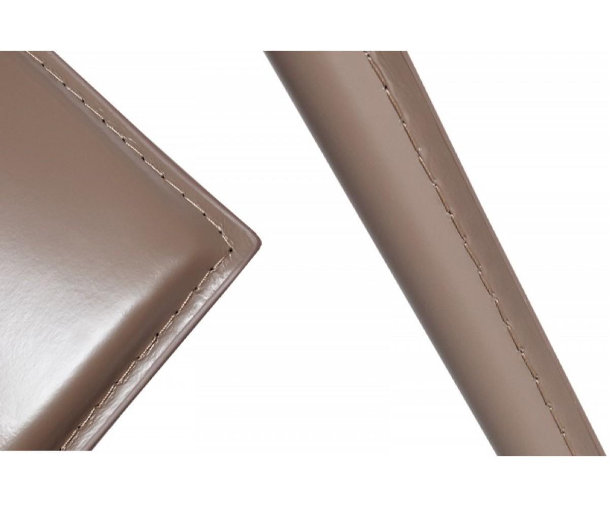 Stuhl Aus Lederfaserstoff / Recyceltes Leder, Farbe Taupe-grau
