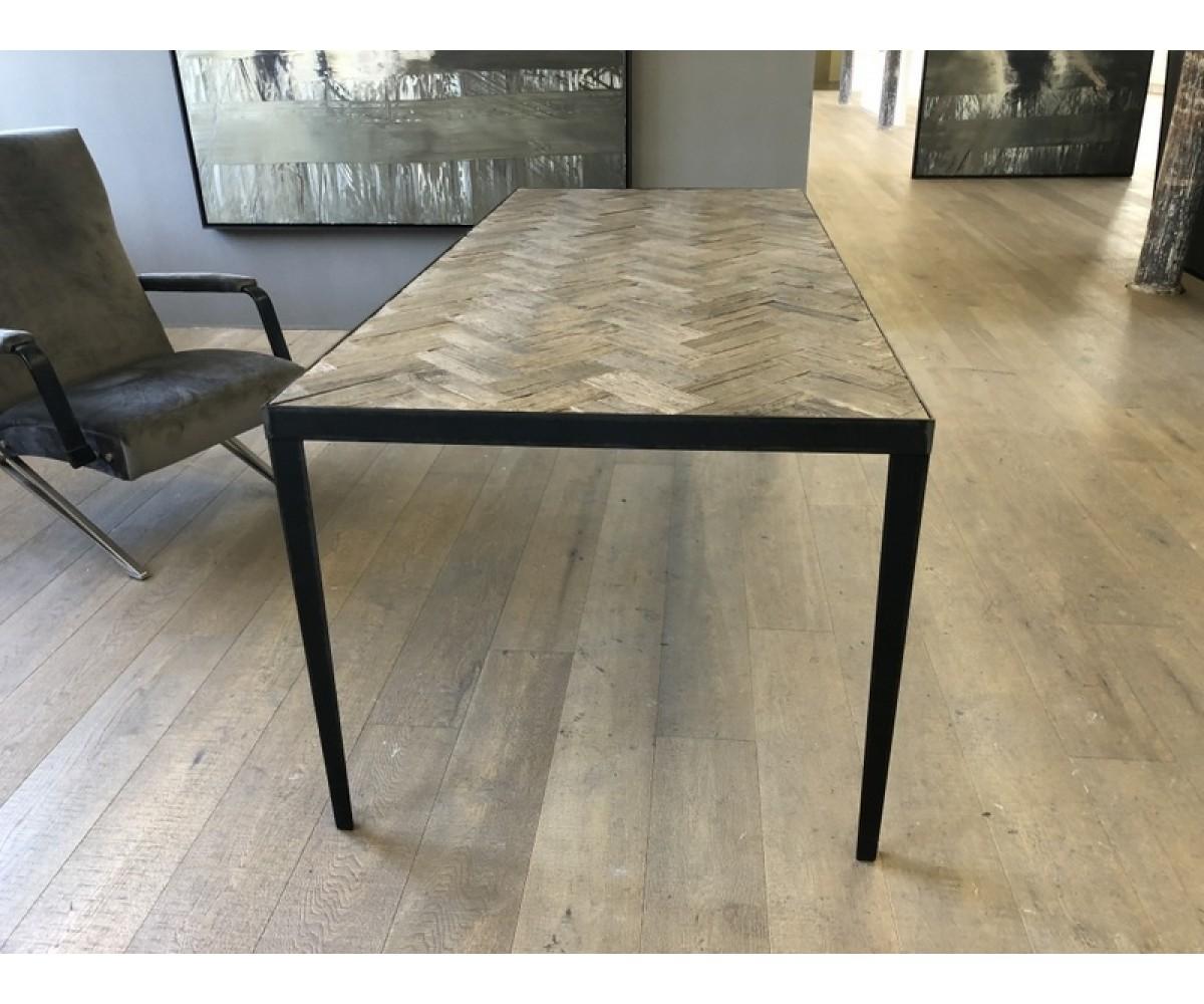 Tisch Metall Gestell Esstisch Holz Metall Eiche Breite