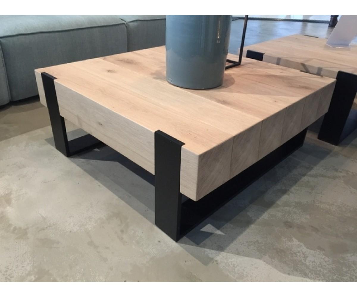 Couchtisch Metall Gestell Tisch Holz Ma E 70x70 Cm