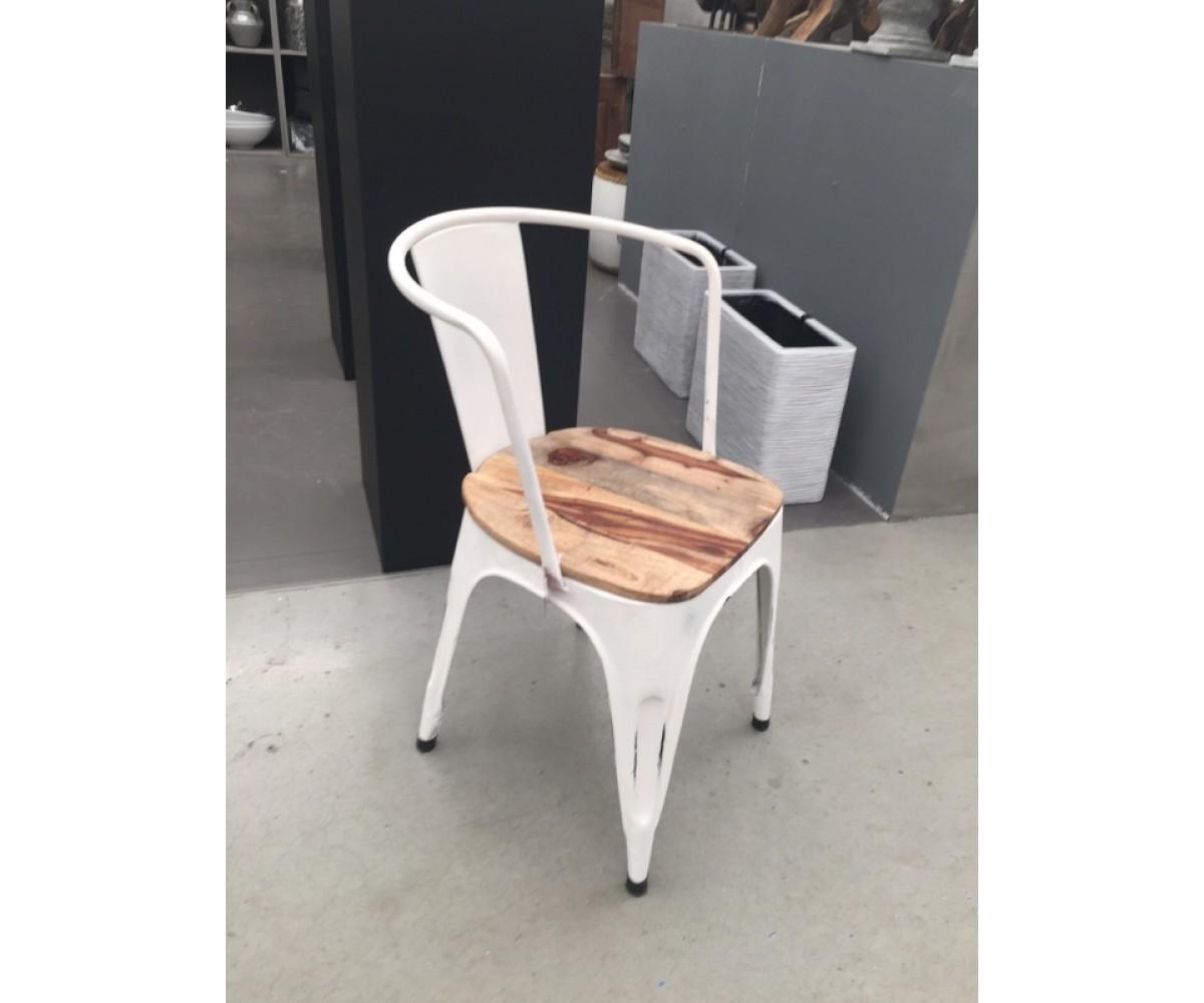 Stuhl weiß Metall Industrie Stuhl weiß