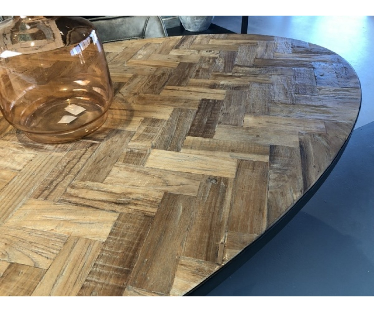 Esstisch oval Metall Gestell, Tisch oval Industriedesign