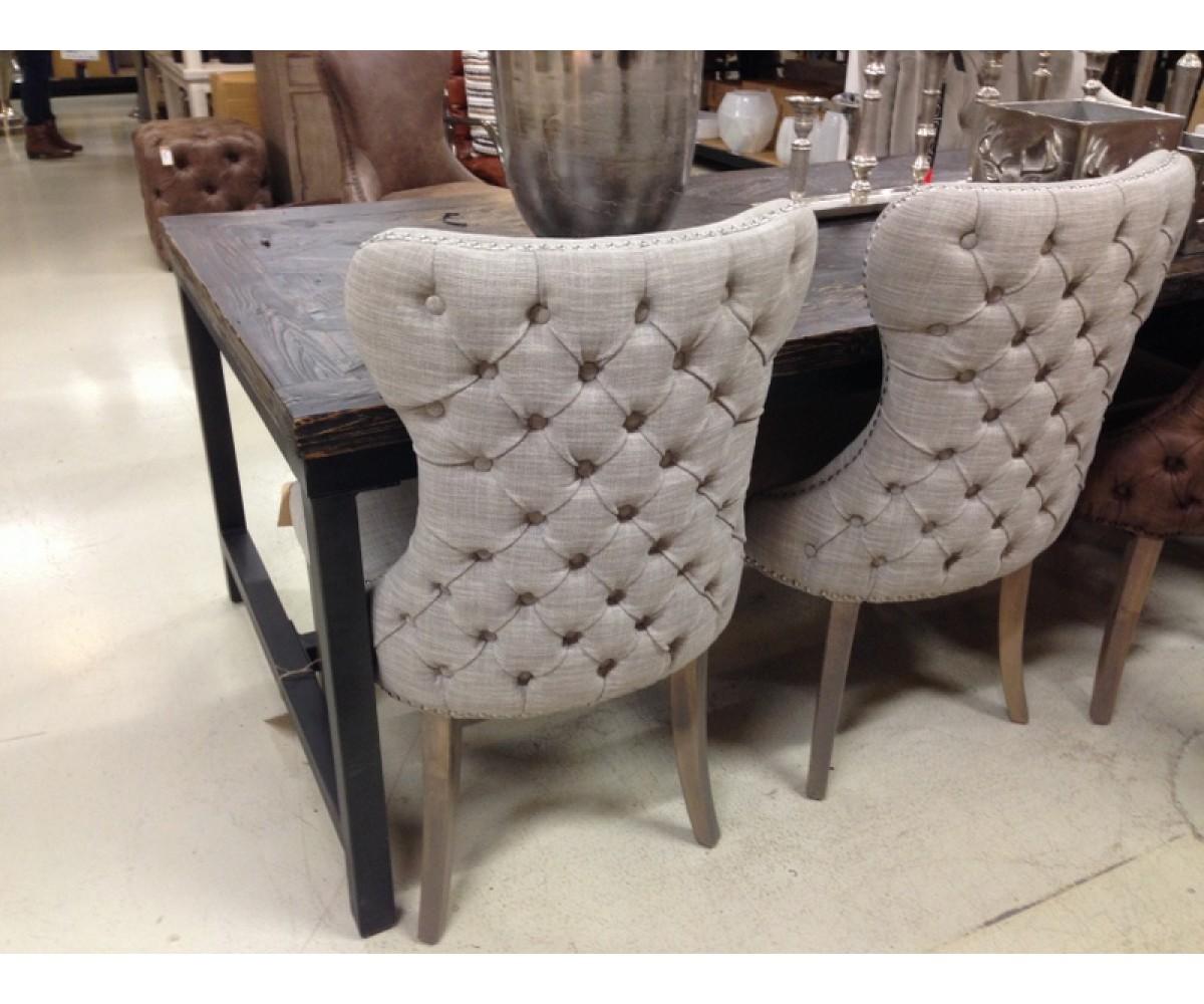 Stuhl gepolstert chesterfield stuhl taupe for Stuhl gepolstert