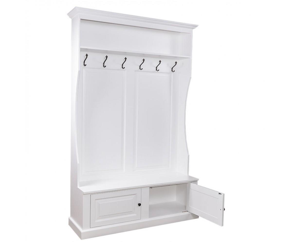 Garderobe Weiß Massivholz Garderobenschrank Weiß Mit Sitzbank 2