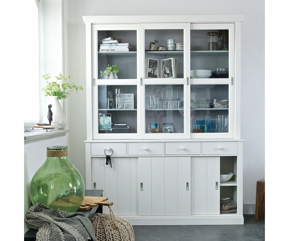 vitrinenschrank wei geschirrschrank wei vitrine wei im landhausstil buffet schrank wei. Black Bedroom Furniture Sets. Home Design Ideas