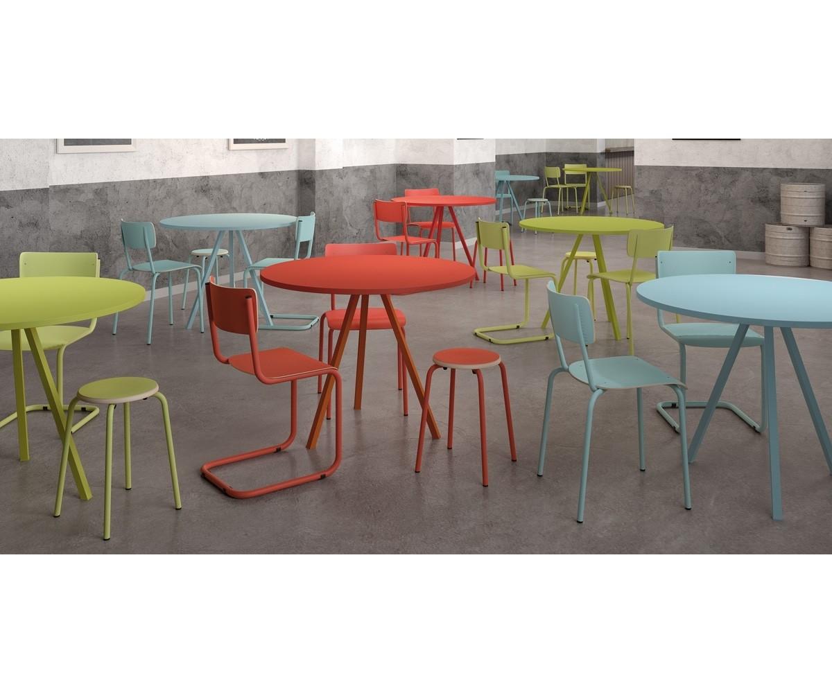 Tisch Rund 70 Cm Durchmesser.Esstisch Blau Rund Tisch Rund Blau Schultisch In Drei