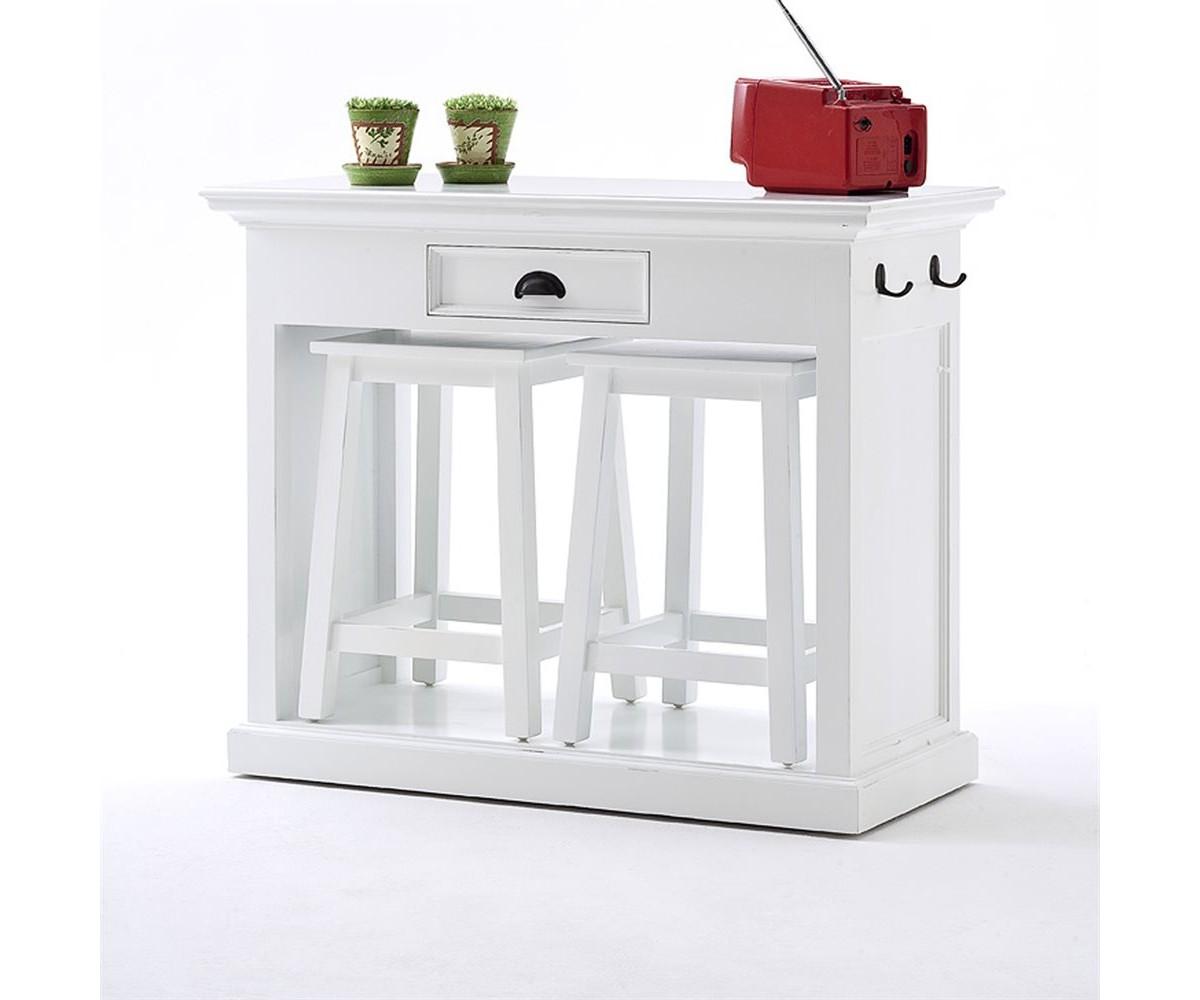 Bar-Set/ Küchentisch Set Im Landhausstil In Weiß