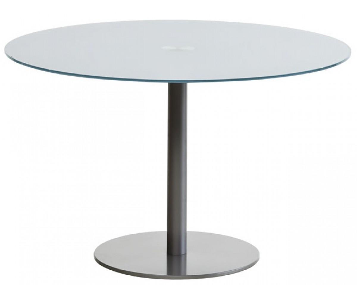 esstisch rund glas tisch glasplatte rund tisch verchromt oder satiniert durchmesser 100 120 cm. Black Bedroom Furniture Sets. Home Design Ideas