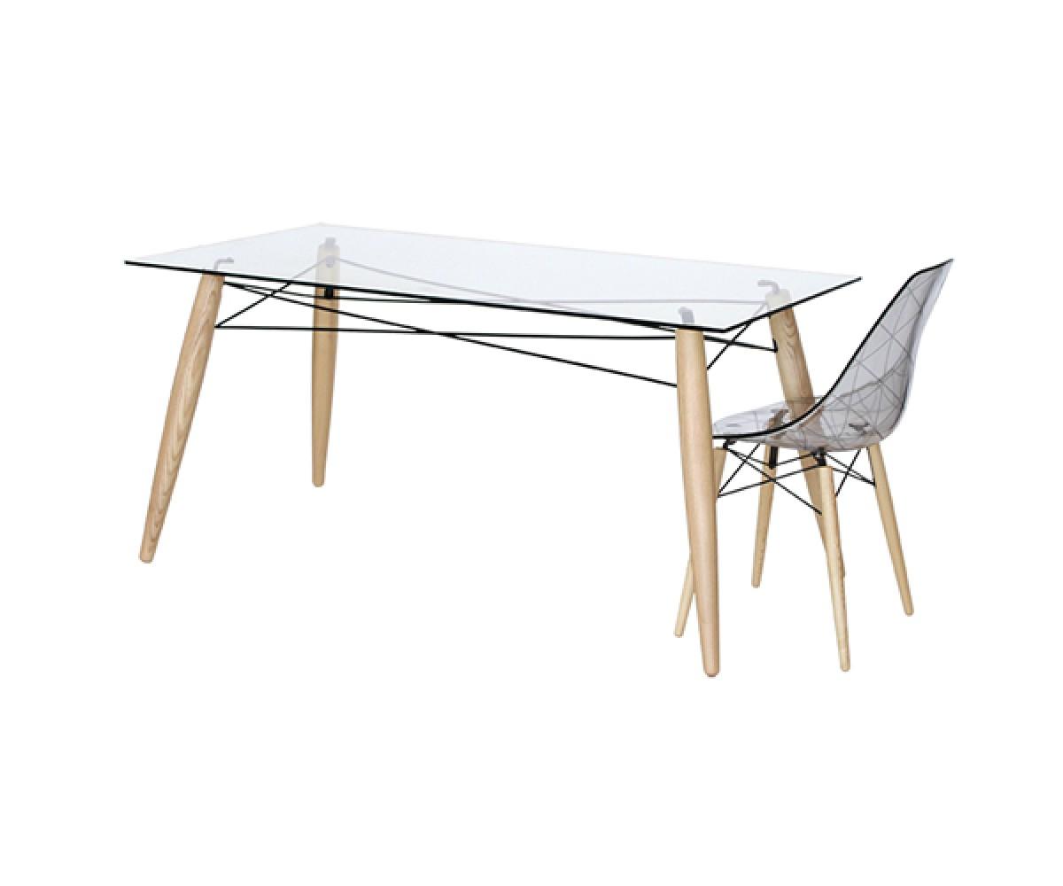 Gut bekannt Tisch Holz-Tischbeine, Esstisch Glas Tischplatte, Tisch CO55